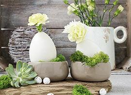 Floristische Tischdeko für Ostern