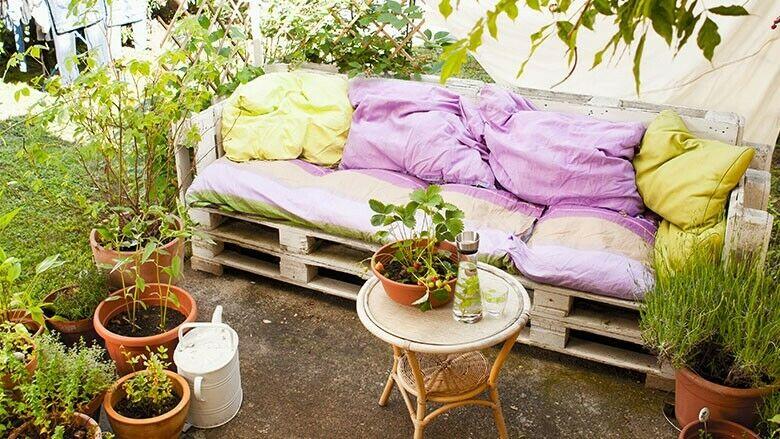 Selbstgemachte Gartenmöbel