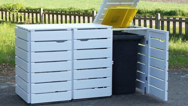 Versteck für Mülltonnen im Vorgarten