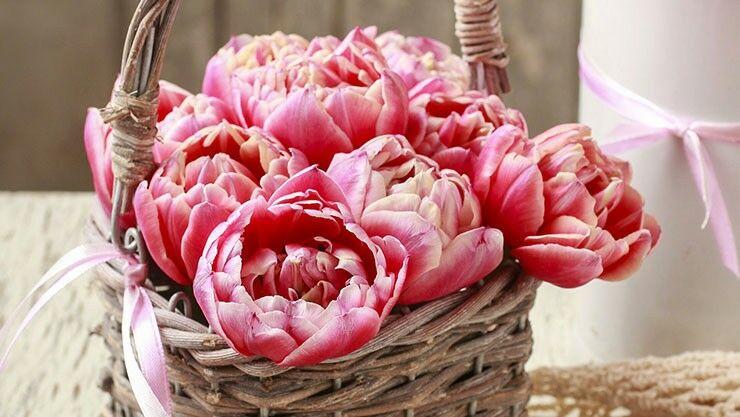Tischdeko Mit Gefullten Tulpen