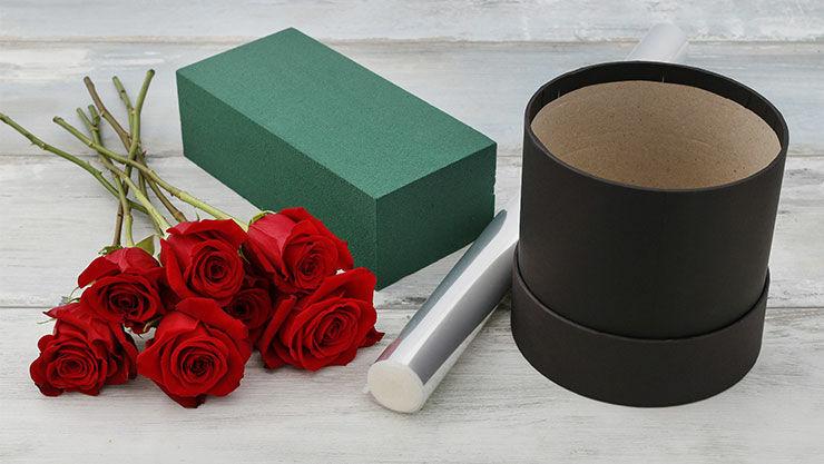 Anleitung für Valentinsüberraschung mit roten Rosen