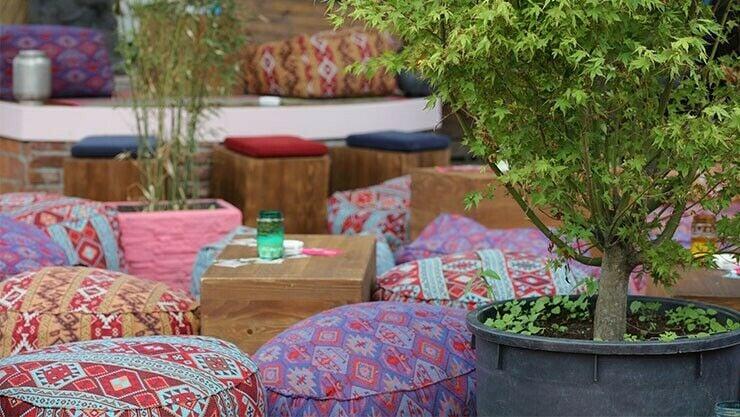 Ibiza-Garten Sitzkissen